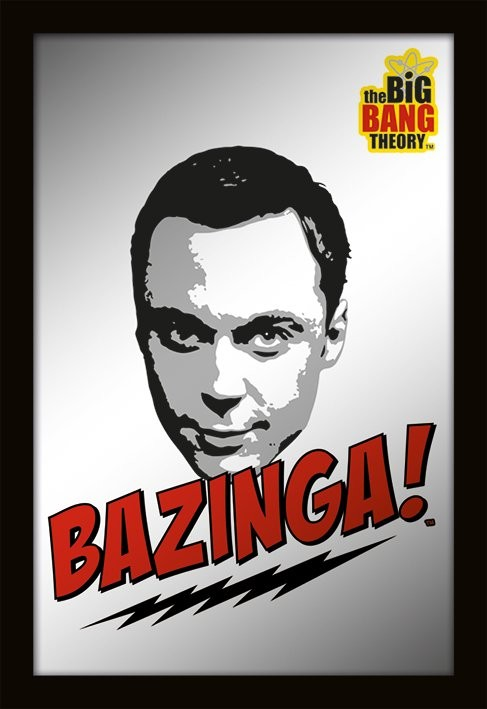 Specchi Stampati MIRRORS - big bang theory / bazinga