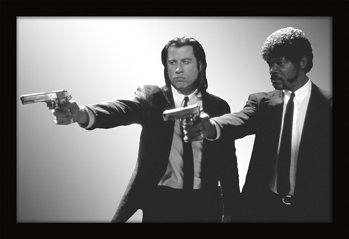 MIRRORS - pulp fiction / guns Spiegel