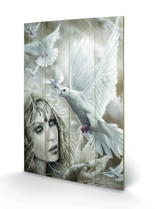 Bild auf Holz Spiral - Doves of Peacel