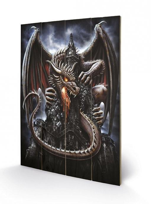 Poster su legno Spiral - Dragon Lava