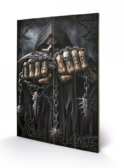 Poster su legno Spiral - Game Over - Reaper
