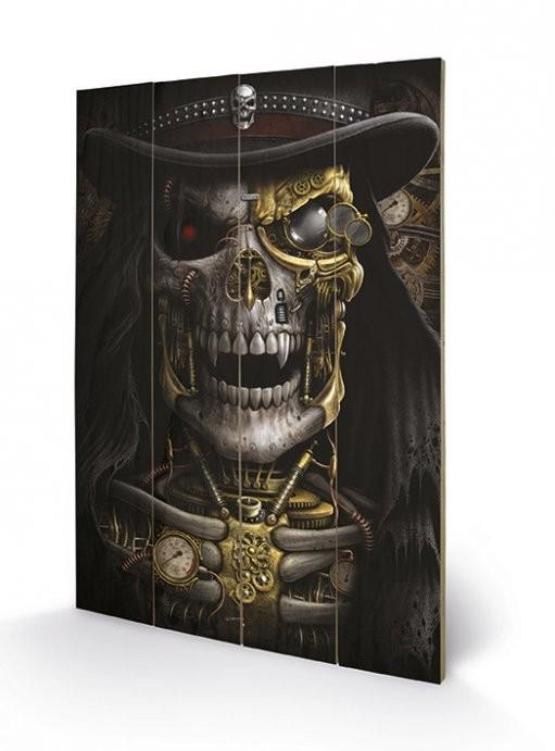 Poster su legno Spiral - Steampunk Reaper