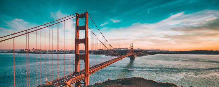 Golden Gate Bridge Staklena slika