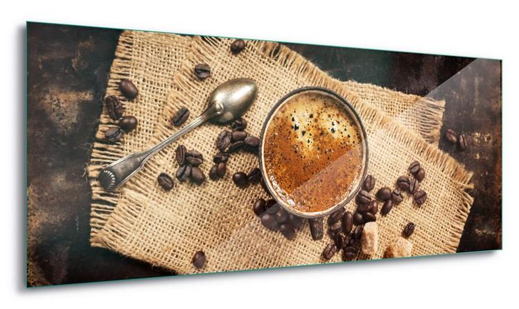 Hot Coffee Staklena slika