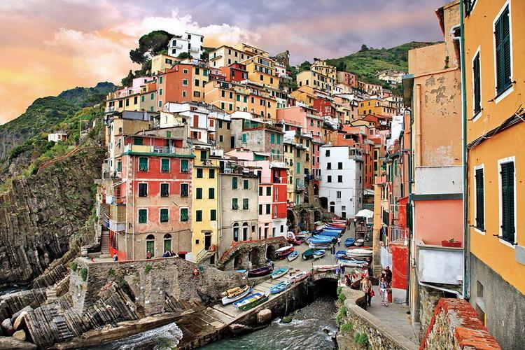 Italy - Romantic City Staklena slika
