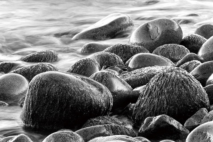 Sea - Grey Stones Staklena slika