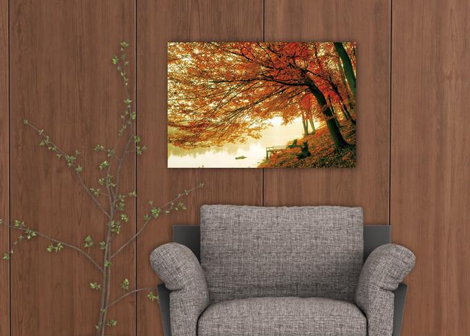 Tree - Colored Tree Staklena slika