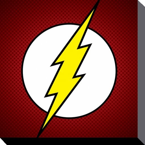 Stampa su Tela DC Comics - The Flash Symbol
