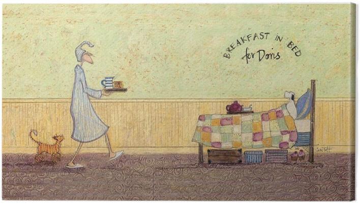 Stampa su Tela Sam Toft - Breakfast in bed for Doris