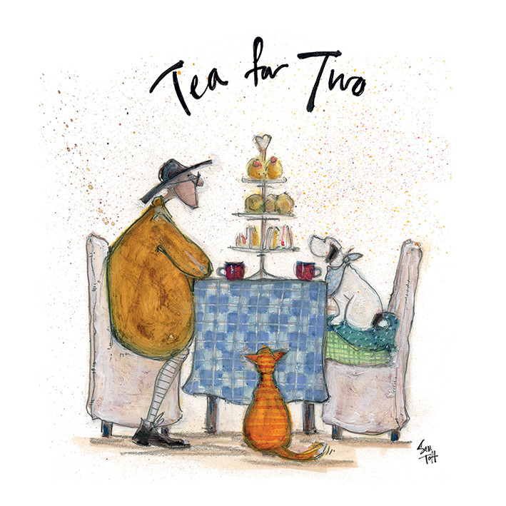 Stampa su Tela Sam Toft - Tea For Two - Colour