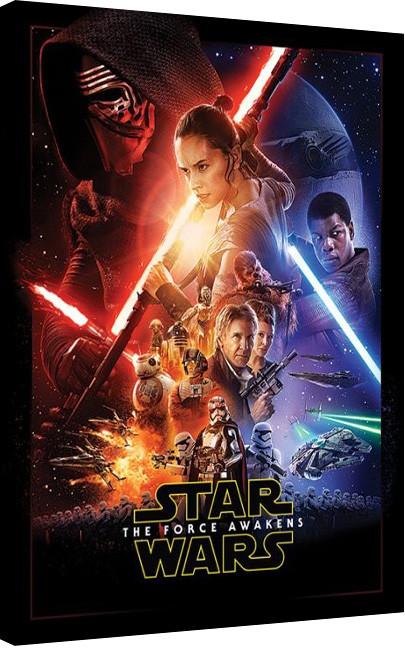 Stampa su Tela Star Wars, Episodio VII : Il risveglio della Forza - Rey Tri