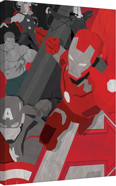 Stampa su Tela Avengers: Age Of Ultron - Pop Art