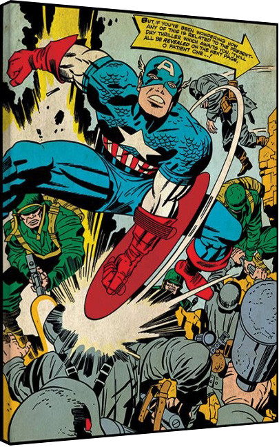 Stampa su Tela Captain America - Soldiers