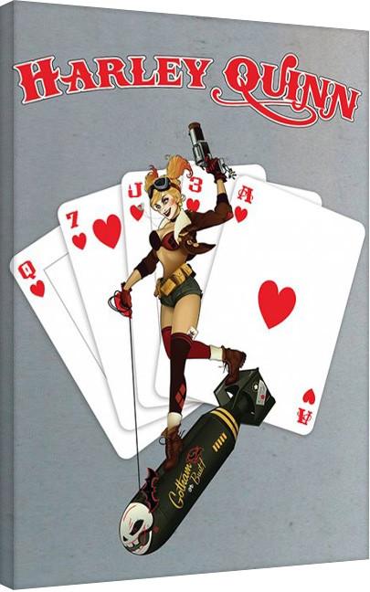 Stampa su Tela DC Comics - Harley Quinn - Cards