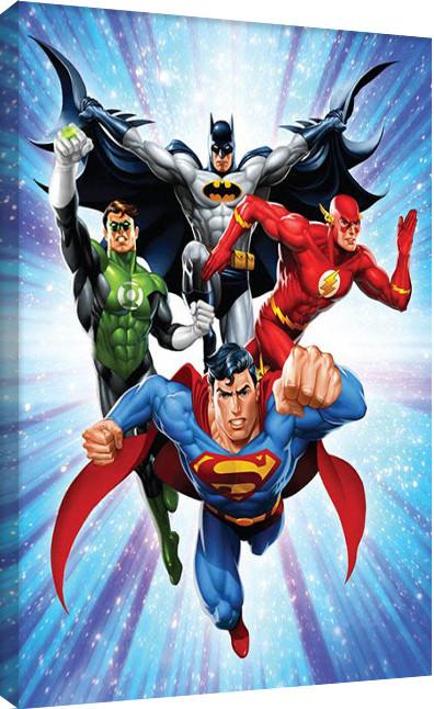 Stampa su Tela DC Comics - Justice League - Supreme Team
