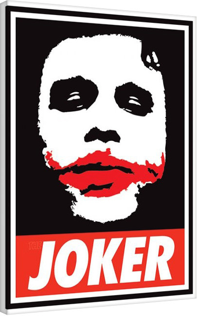 Stampa su Tela Ferrari - The Dark Knight - Obey The Joker