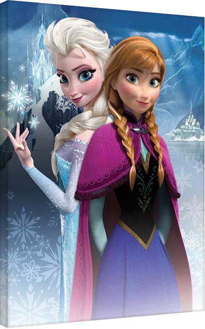 Stampa su Tela Frozen: Il regno di ghiaccio - Anna & Elsa