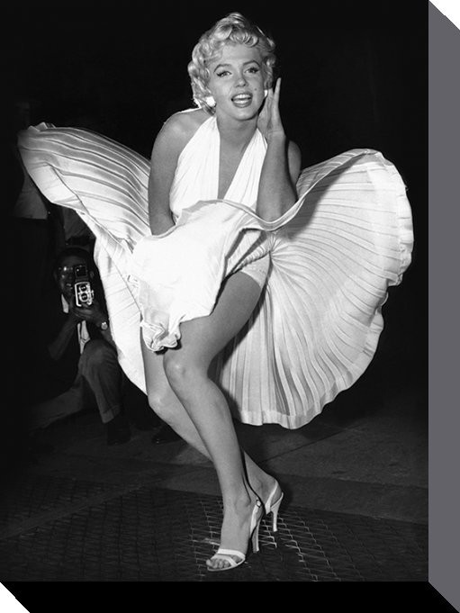 Stampa su Tela Marilyn Monroe - Seven Year Itch - Europosters.it