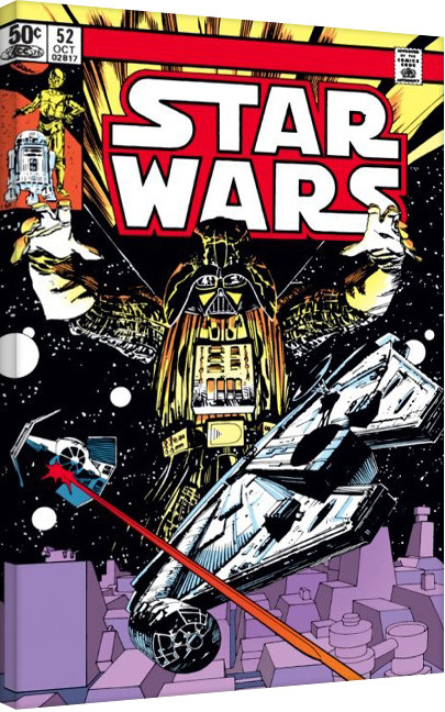 Stampa su Tela Star Wars - Space Chase