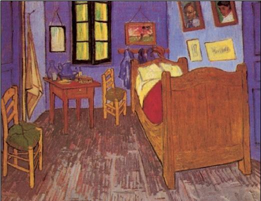 Stampe d'arte Bedroom in Arles, 1888