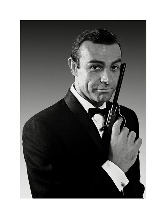 Stampe d'arte James Bond 007 - Connery