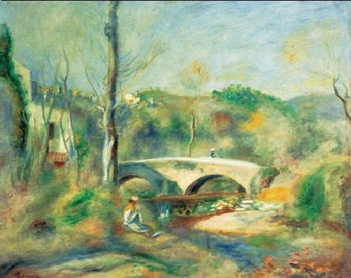 Stampe d'arte Landscape with Bridge, 1900