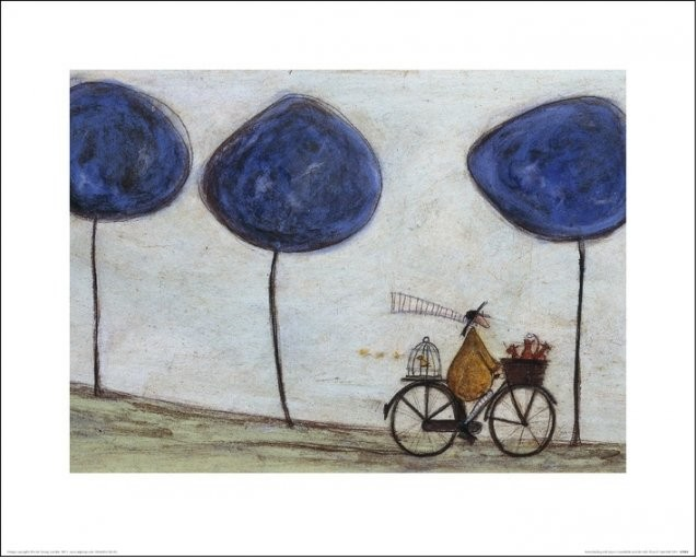 Stampe d'arte Sam Toft - Freewheelin' with Joyce Greenfields and the Felix 11