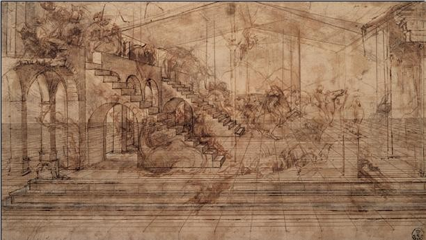 Stampe d'arte Study of The Adoration of the Magi