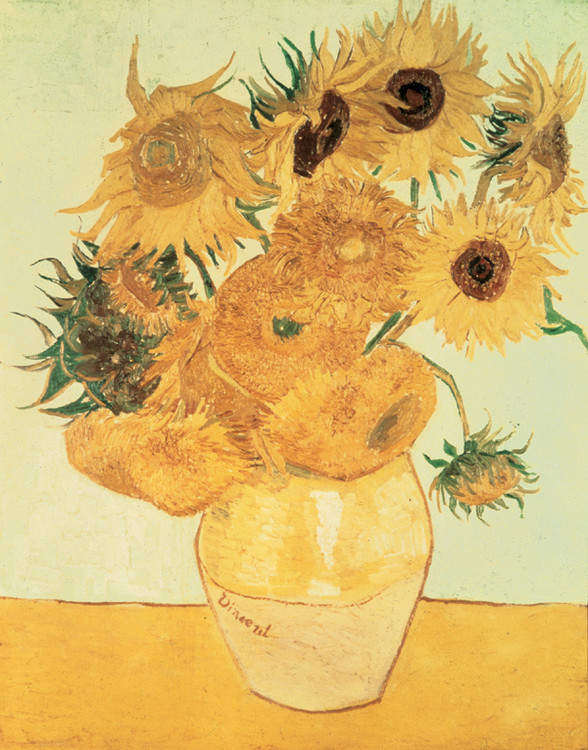 Stampe d'arte Sunflowers, 1888