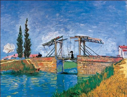 The Langlois Bridge at Arles, 1888 - Stampe d'arte