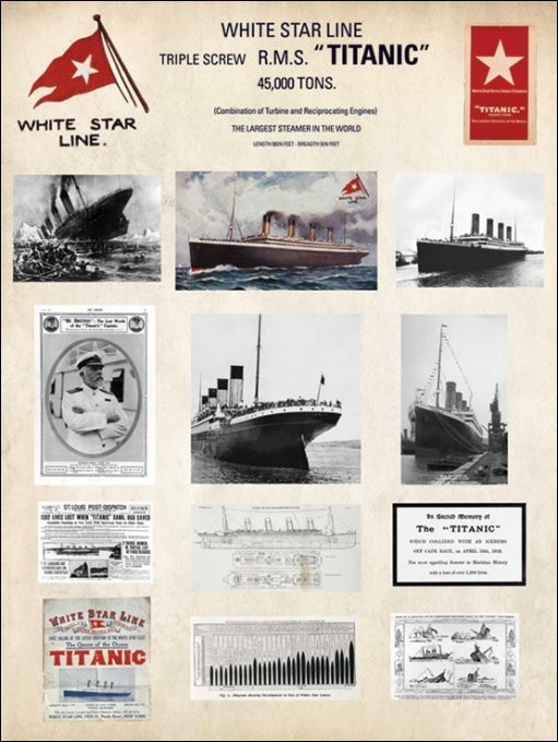 Titanic - Collage - Stampe d'arte