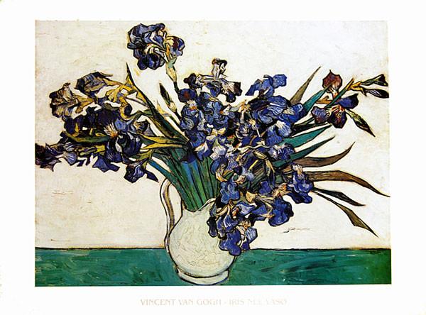 Stampe d'arte Vase with Irises, 1890