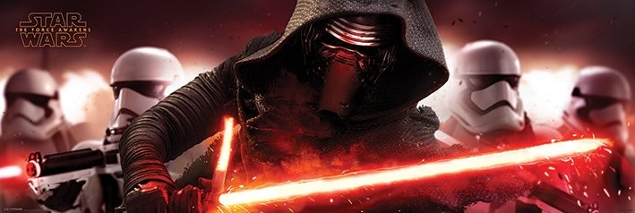 Star Wars Episode VII: The Force Awakens - Kylo Ren & Stormtroopers плакат
