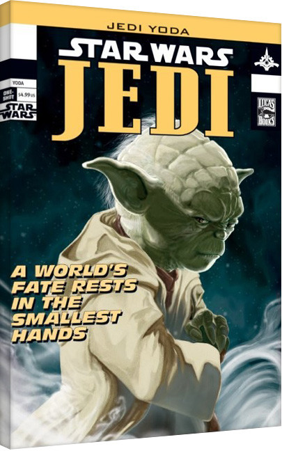 Leinwand Poster Star Wars - Yoda Comic Cover
