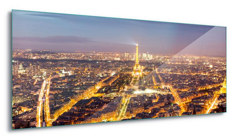 Paris Lights Steklena slika