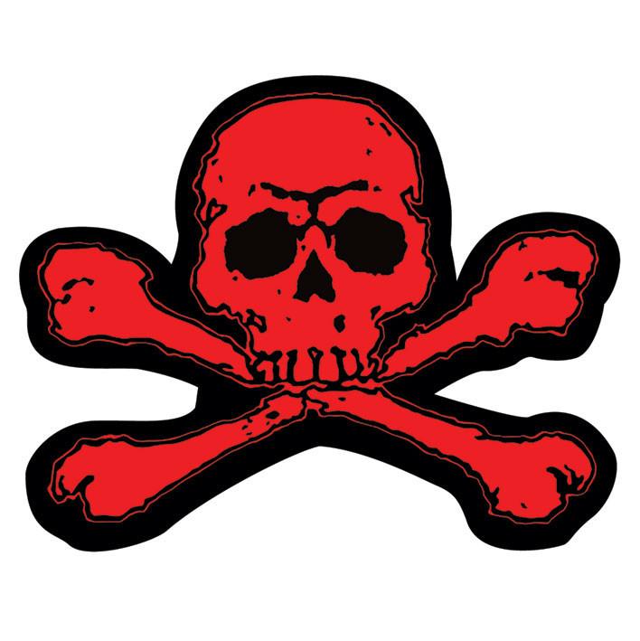 Bestel Een Skull Crossbones Red Sticker Op Europostersbe