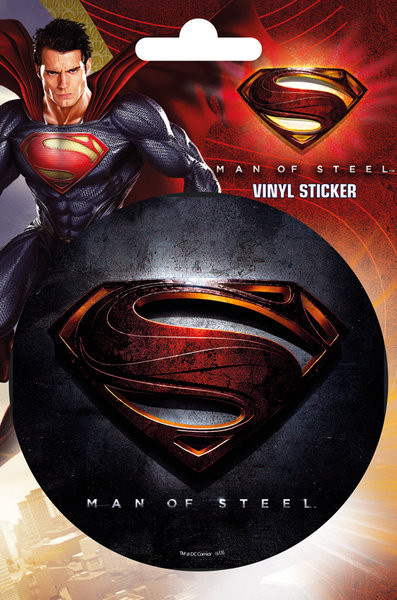 SUPERMAN MAN OF STEEL - logo sticker