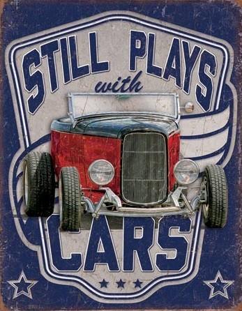 Still Plays With Cars Metalen Wandplaat