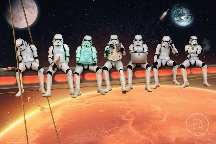 Αφίσα  Stormtrooper - On Girders
