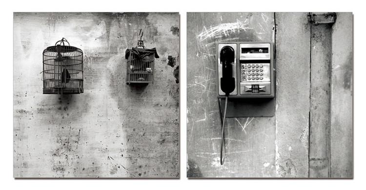 Street Art Photo Industrial (Zwart Wit) Schilderij