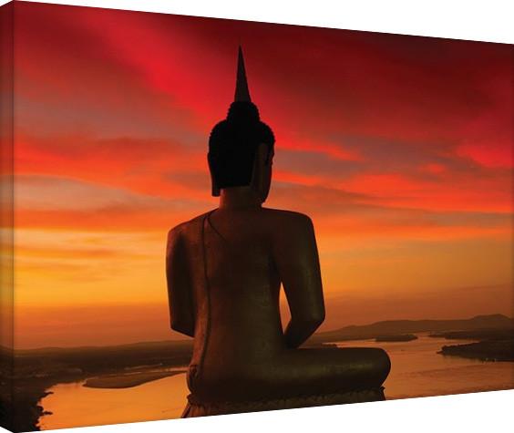 Plagát Canvas Stuart Meikle - Sun Setting over the Mekong