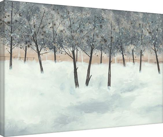 Plagát Canvas Stuart Roy - Silver Trees on White