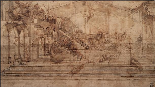 Study of The Adoration of the Magi Festmény reprodukció