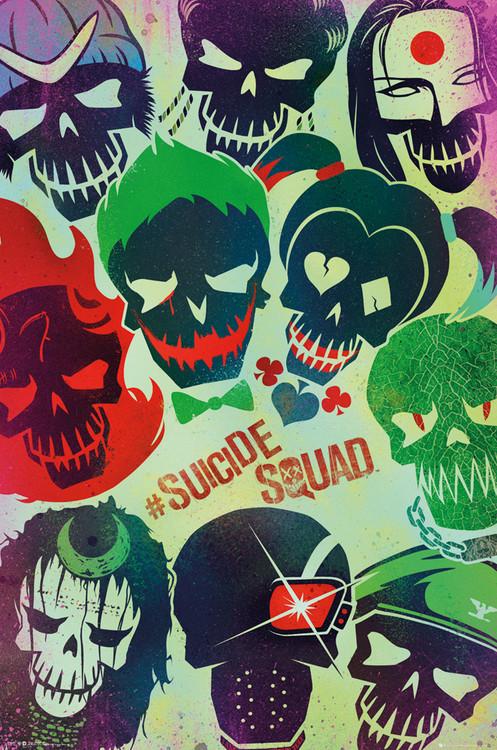 Αφίσα  Suicide Squad - Deadshot Skull