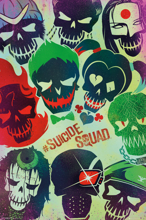 Αφίσα  Suicide Squad - Faces
