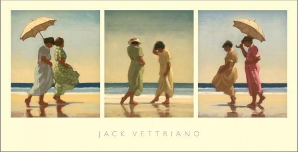 Summer Days Triptych Reproduction d'art