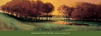 Sundown At Maple Creek Festmény reprodukció