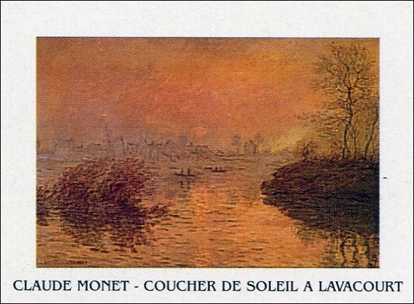 Sunset on the Seine at Lavacourt Festmény reprodukció