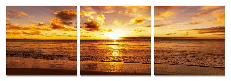 Sunshine over sea Tableau Multi-Toiles
