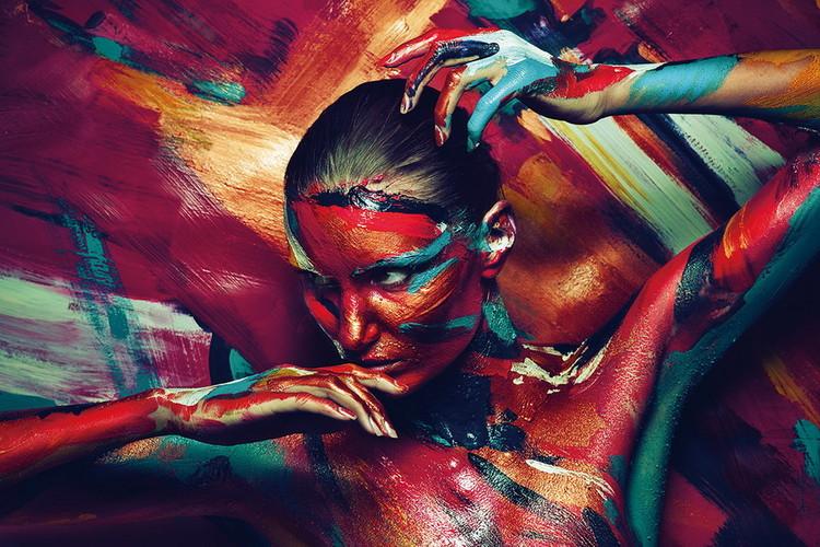 Szklany obraz Art Woman - Art Painting